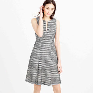 NWT J. Crew Contrast Eyelet Dress - 10P